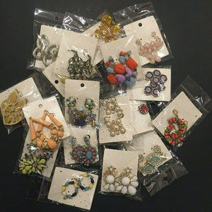 Lot of 18 Pairs Mixed Fashion Jewelry Earrings